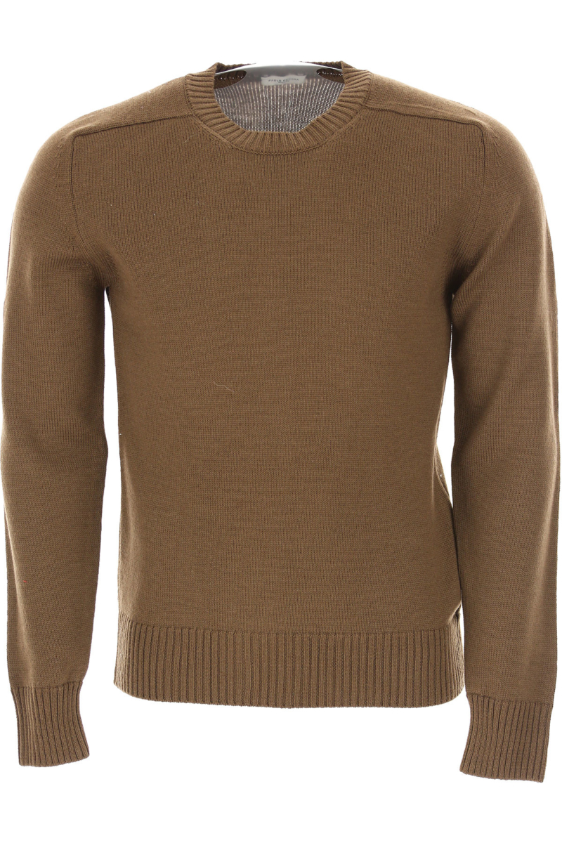 Paolo Pecora Sweater for Men Jumper Sandy Brown Canada - GOOFASH - Mens SWEATERS