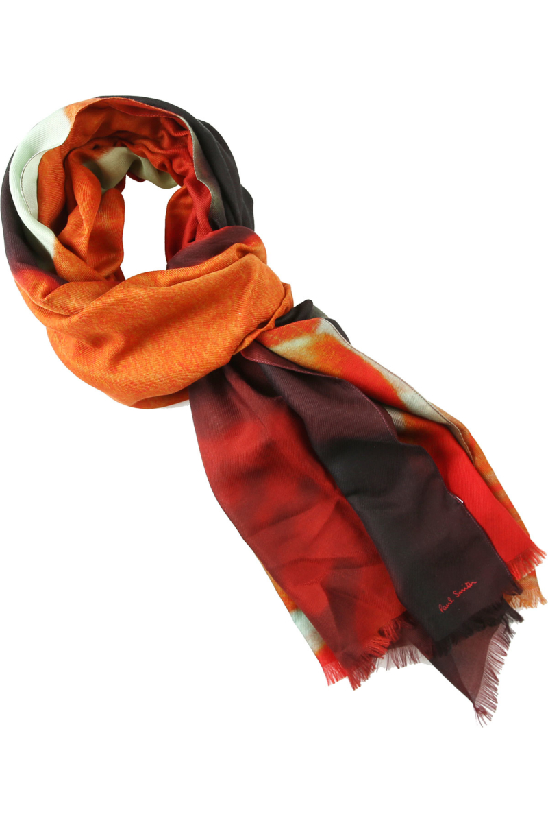 Paul Smith Scarf for Men Orange Canada - GOOFASH - Mens SCARFS