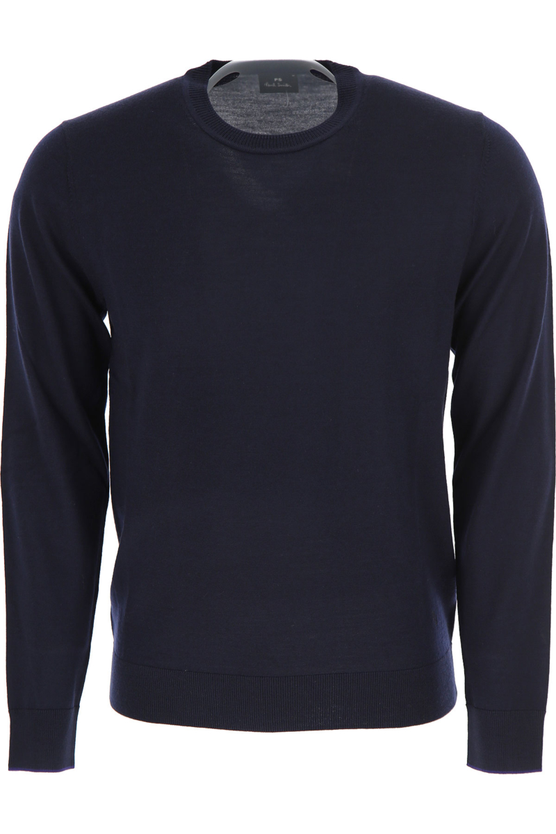 Paul Smith Sweater for Men Jumper Blue Ink Canada - GOOFASH - Mens SWEATERS