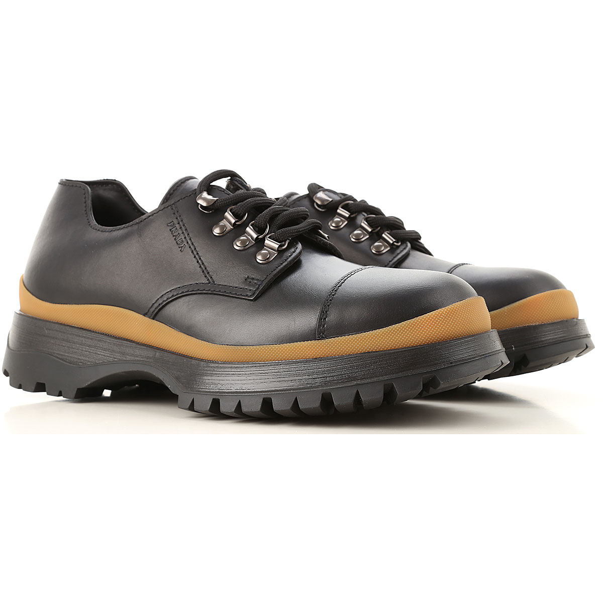 Prada Lace Up Shoes for Men Oxfords Derbies and Brogues On Sale Canada - GOOFASH - Mens FORMAL SHOES