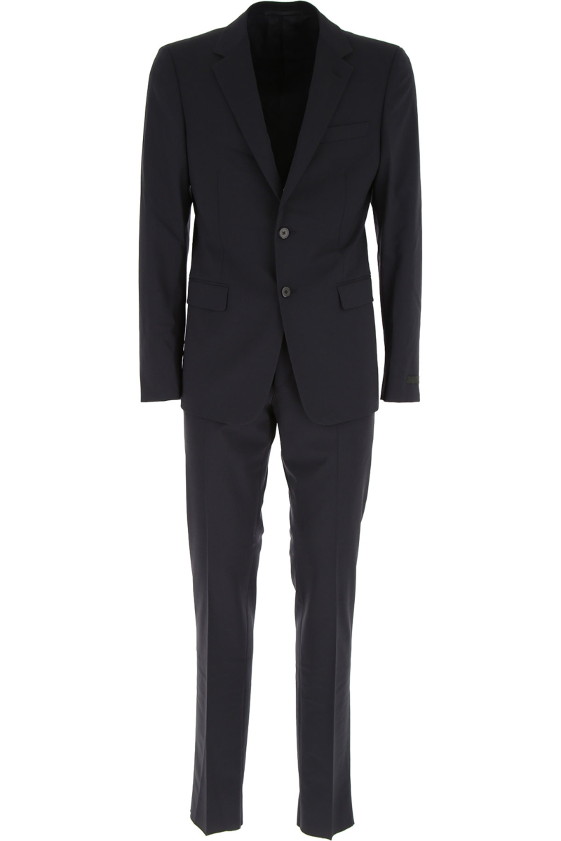 Prada Men's Suit in Outlet Blue Ink Canada - GOOFASH - Mens SUITS