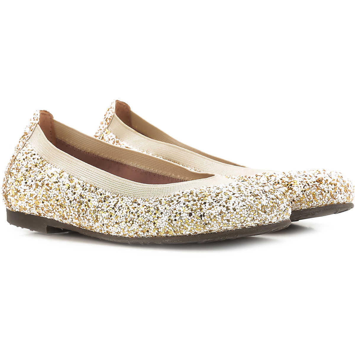 Pretty Ballerinas Kids Shoes for Girls in Outlet Cream Canada - GOOFASH - Womens BALLERINAS