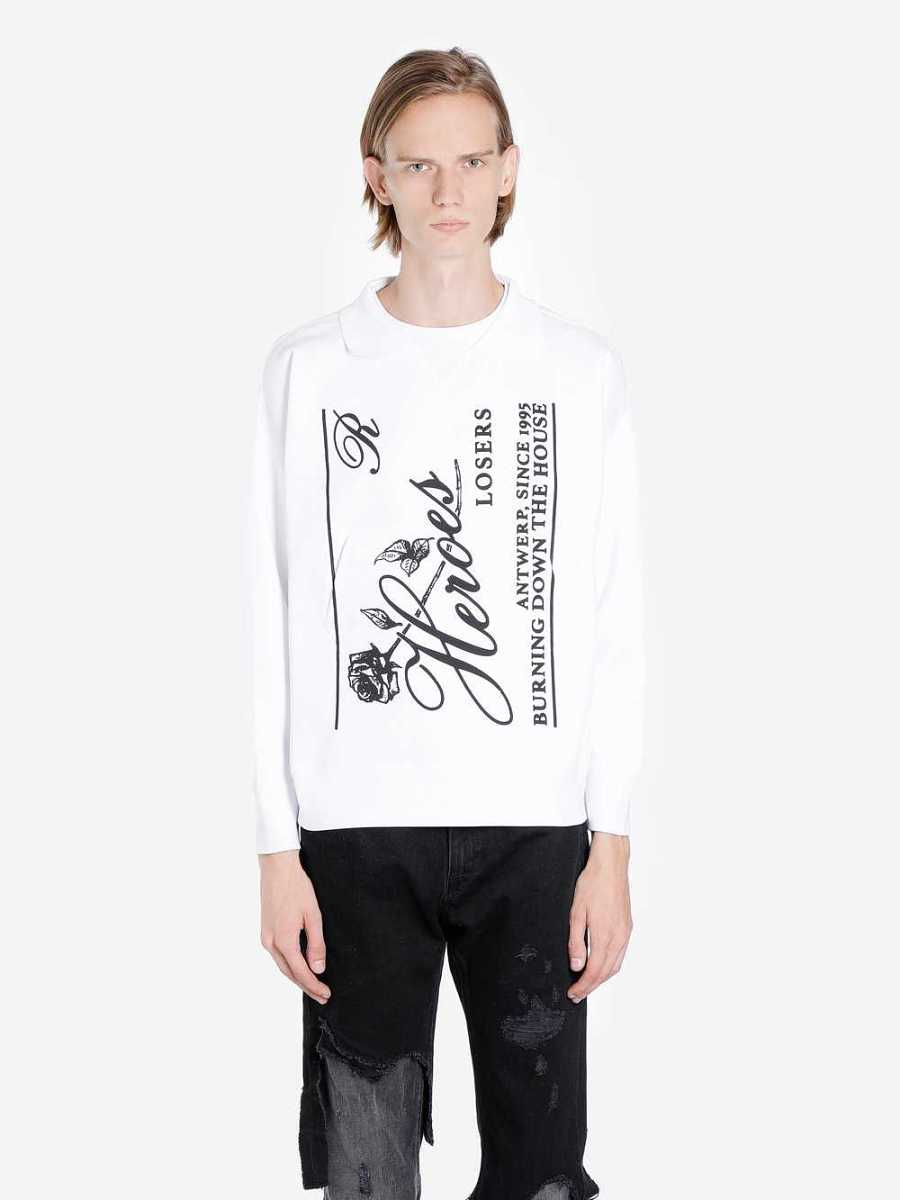 Raf Simons Sweaters White Canada - GOOFASH - Mens SWEATERS