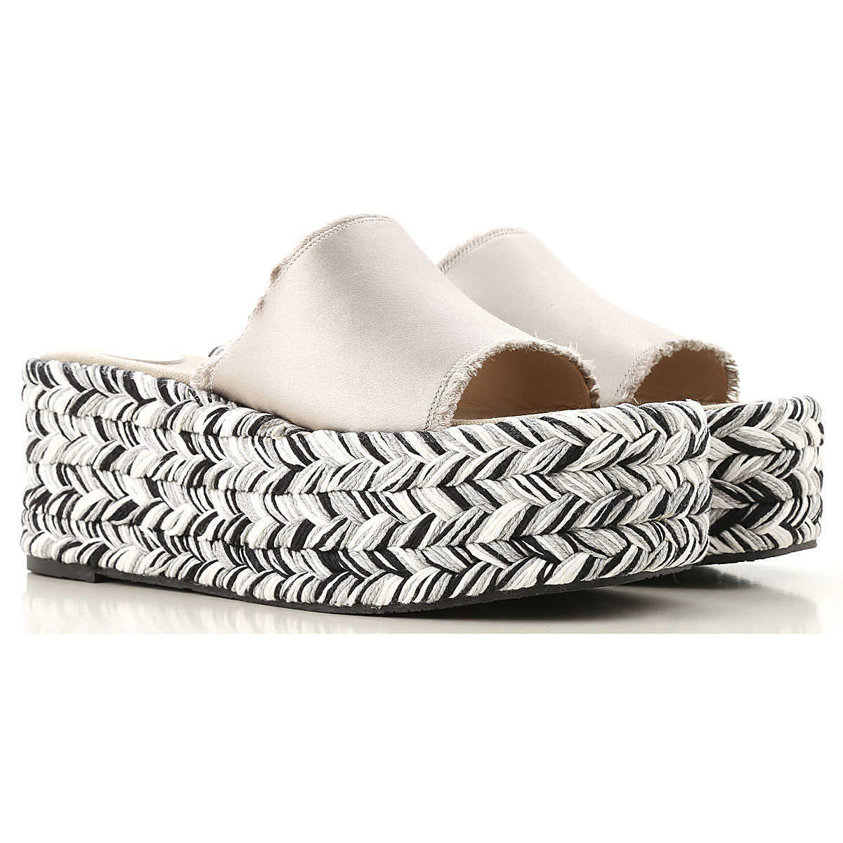 Ras Wedges for Women Silver Canada - GOOFASH - Womens HOUSE SHOES