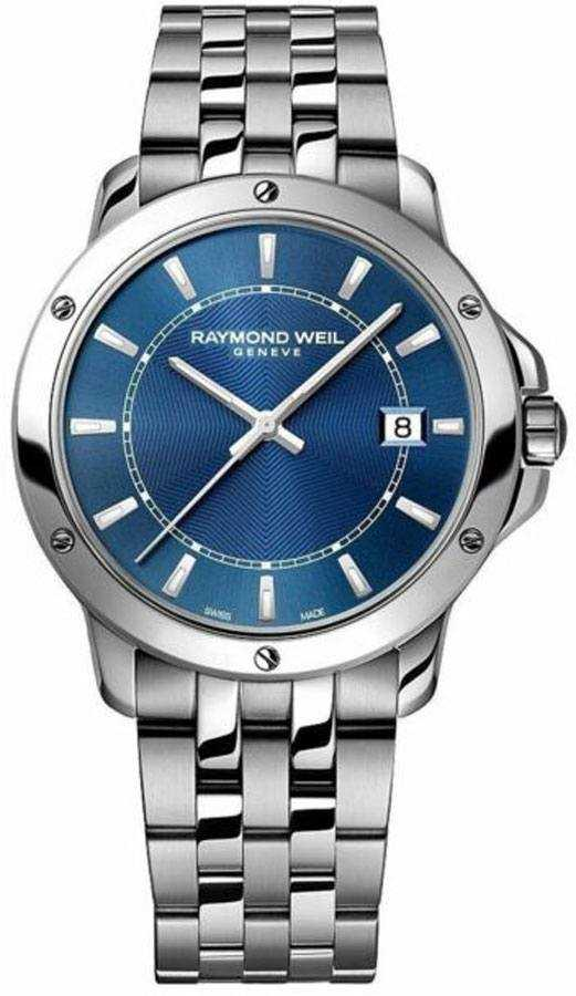 Raymond Weil Tango Blue Dial Men's Watch 5591-ST-50001 Blue USA - GOOFASH - Mens WATCHES