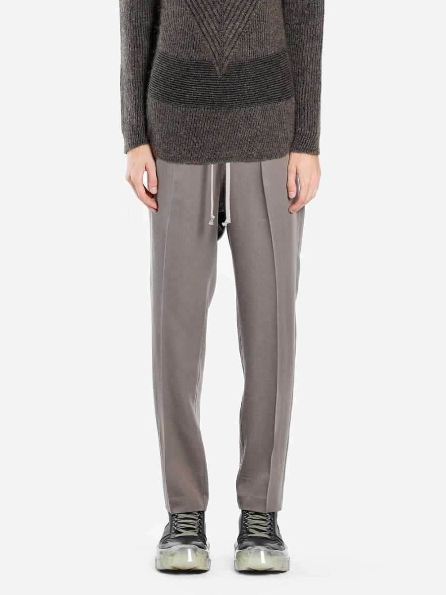 Rick Owens Trousers Grey USA - GOOFASH - Mens TROUSERS