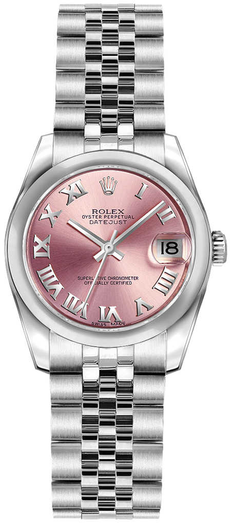 Rolex Lady-Datejust 26 Pink Roman Numeral Dial Watch 179160 Pink USA - GOOFASH - Womens WATCHES