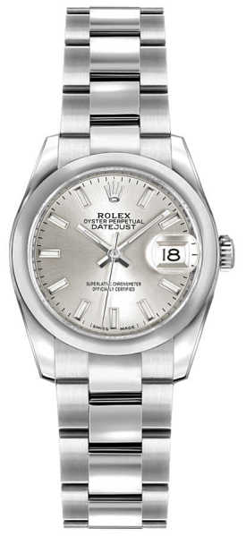 Rolex Lady-Datejust 26 Watch for Women 179160 Silver USA - GOOFASH - Womens WATCHES