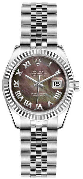 Rolex Lady-Datejust 26 Women's Luxury Watch 179174 Black Mother Of Pearl USA - GOOFASH - Womens WATCHES