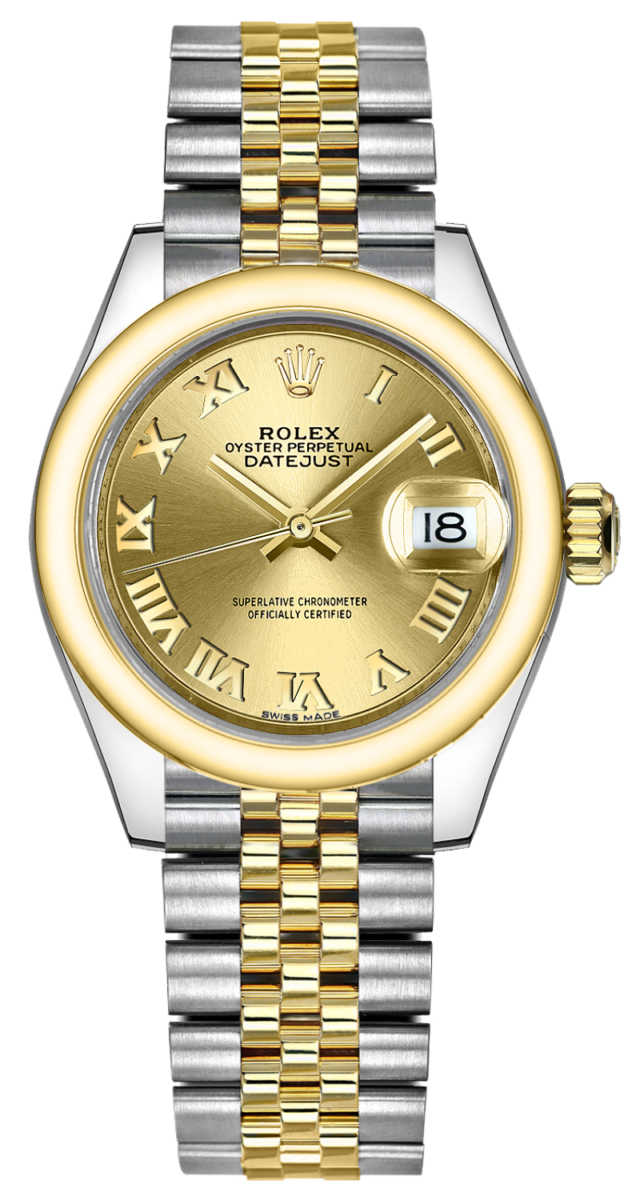 Rolex Lady-Datejust 28 Champagne Dial Watch 279163 Champagne USA - GOOFASH - Womens WATCHES