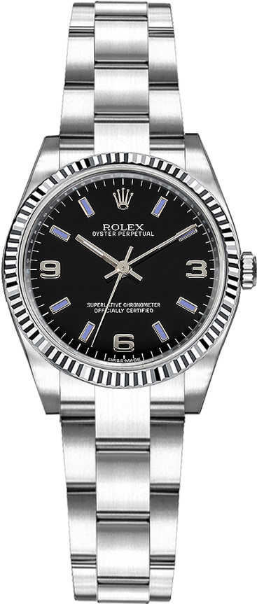 Rolex Oyster Perpetual 26 Automatic Women's Watch 176234 Black USA - GOOFASH - Womens WATCHES