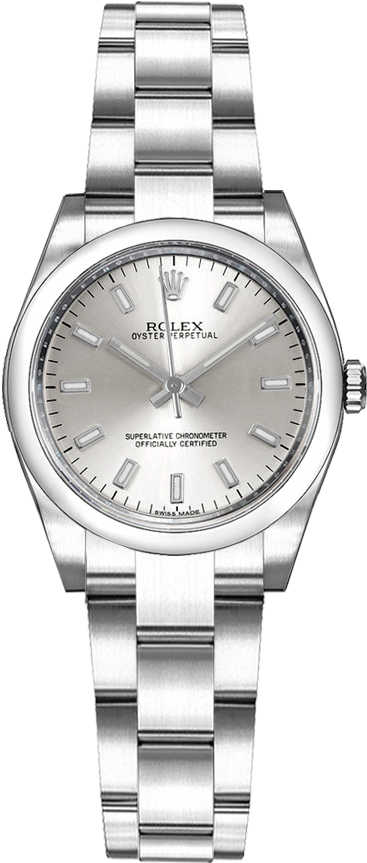 Rolex Oyster Perpetual 26 Luxury Ladies Watch 176200 Silver USA - GOOFASH - Womens WATCHES