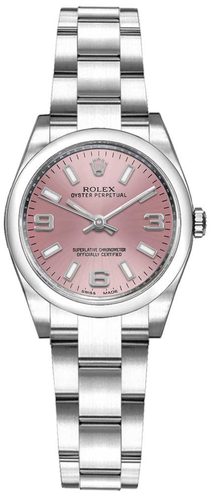 Rolex Oyster Perpetual 26 Pink Dial Domed Bezel Watch 176200 Pink USA - GOOFASH - Womens WATCHES