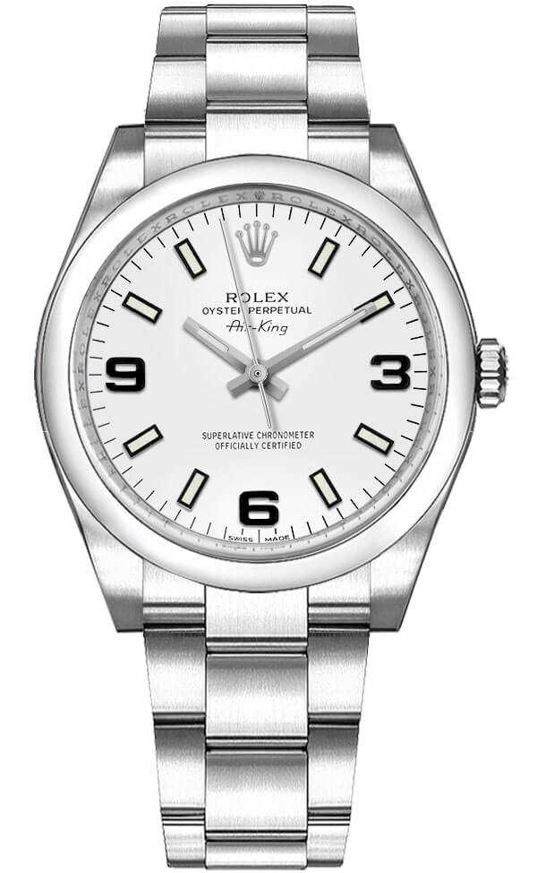 Rolex Oyster Perpetual 34 Automatic Women's Watch 114200 White USA - GOOFASH - Womens WATCHES
