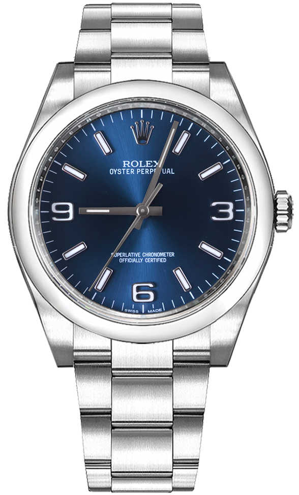 Rolex Oyster Perpetual 36 Blue Dial Women's Automatic Watch 116000 Blue USA - GOOFASH - Womens WATCHES