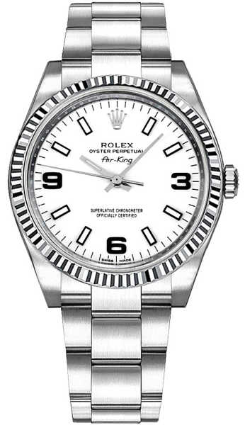 Rolex Oyster Perpetual Air-King White Dial Watch 114234 White USA - GOOFASH - Womens WATCHES