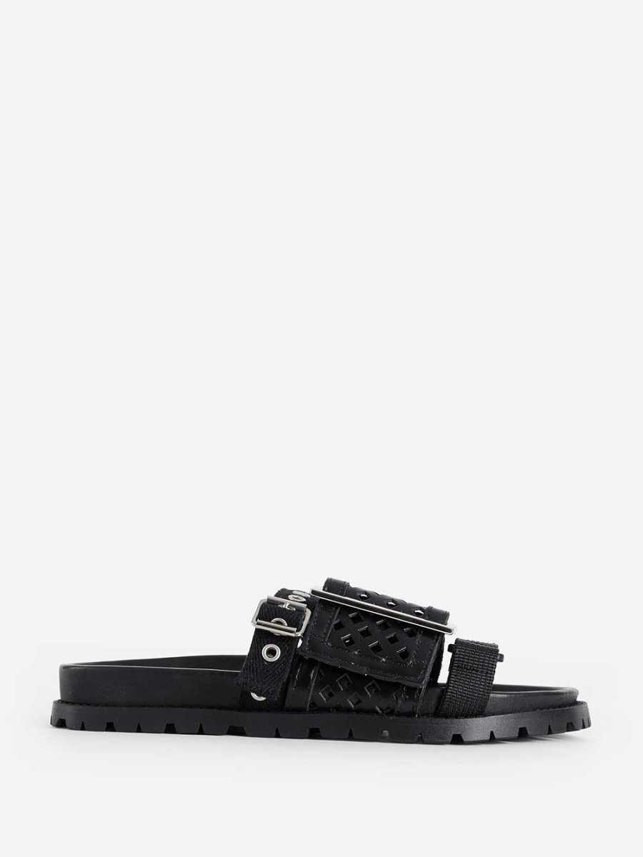 Sacai Sandals Black USA - GOOFASH - Womens SANDALS