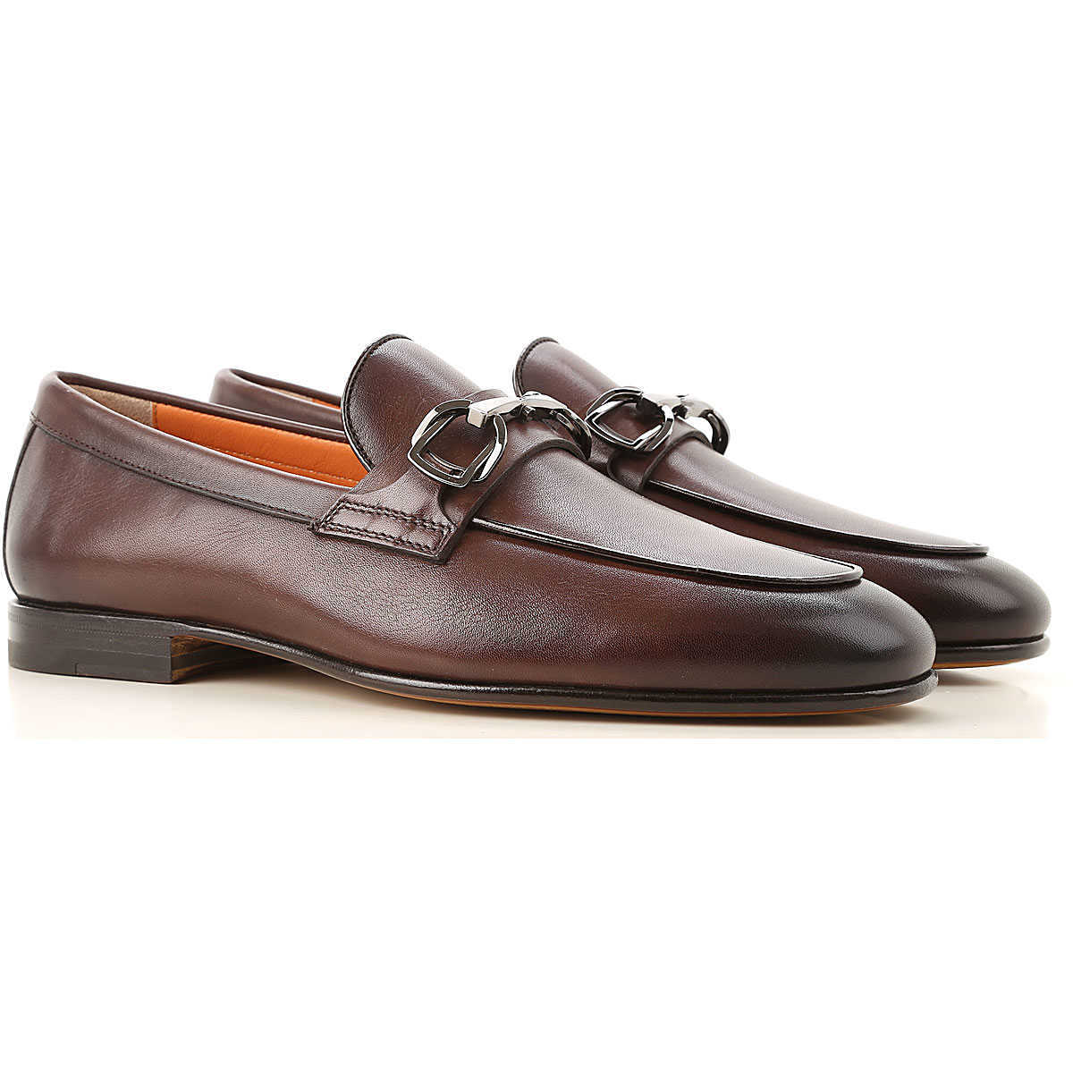 Santoni Loafers for Men Brown Canada - GOOFASH - Mens LOAFERS