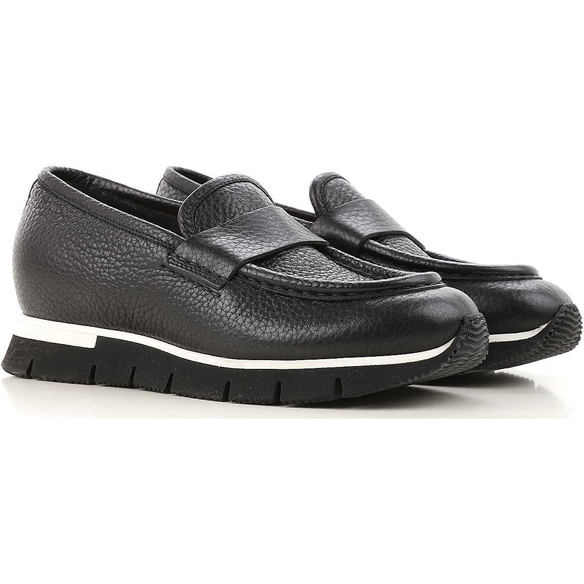 Santoni Loafers for Women in Outlet Black Canada - GOOFASH - Womens FLAT SHOES