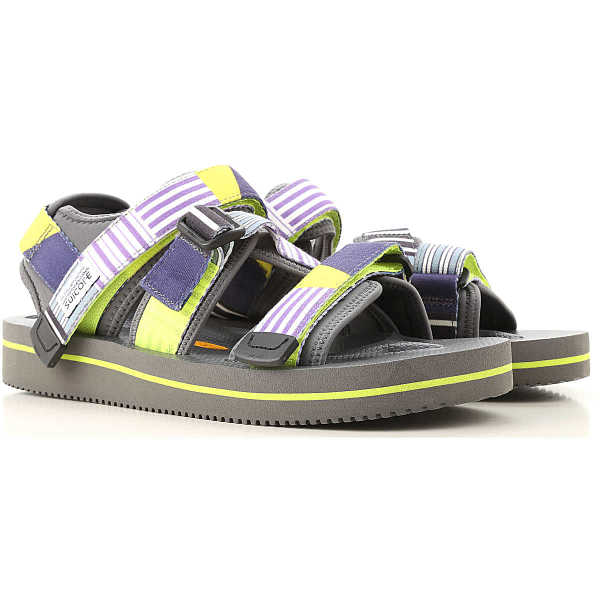 Suicoke Sandals for Men Dark Grey Canada - GOOFASH - Mens SANDALS