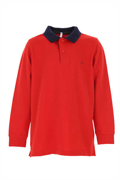 Sun68 Kids Polo Shirt for Boys Red Canada - GOOFASH - Mens POLOSHIRTS
