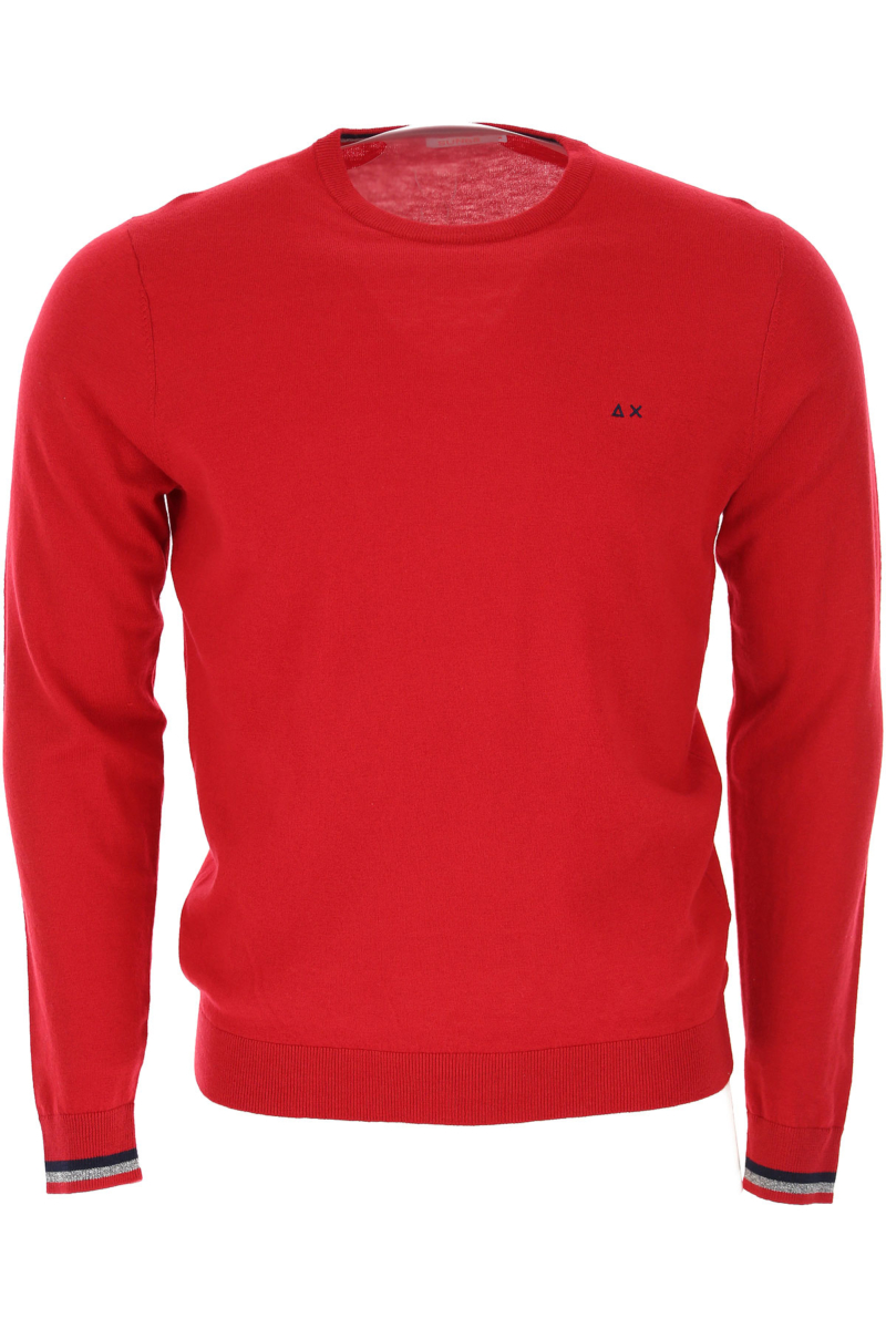 Sun68 Sweater for Men Jumper Fire Red Canada - GOOFASH - Mens SWEATERS