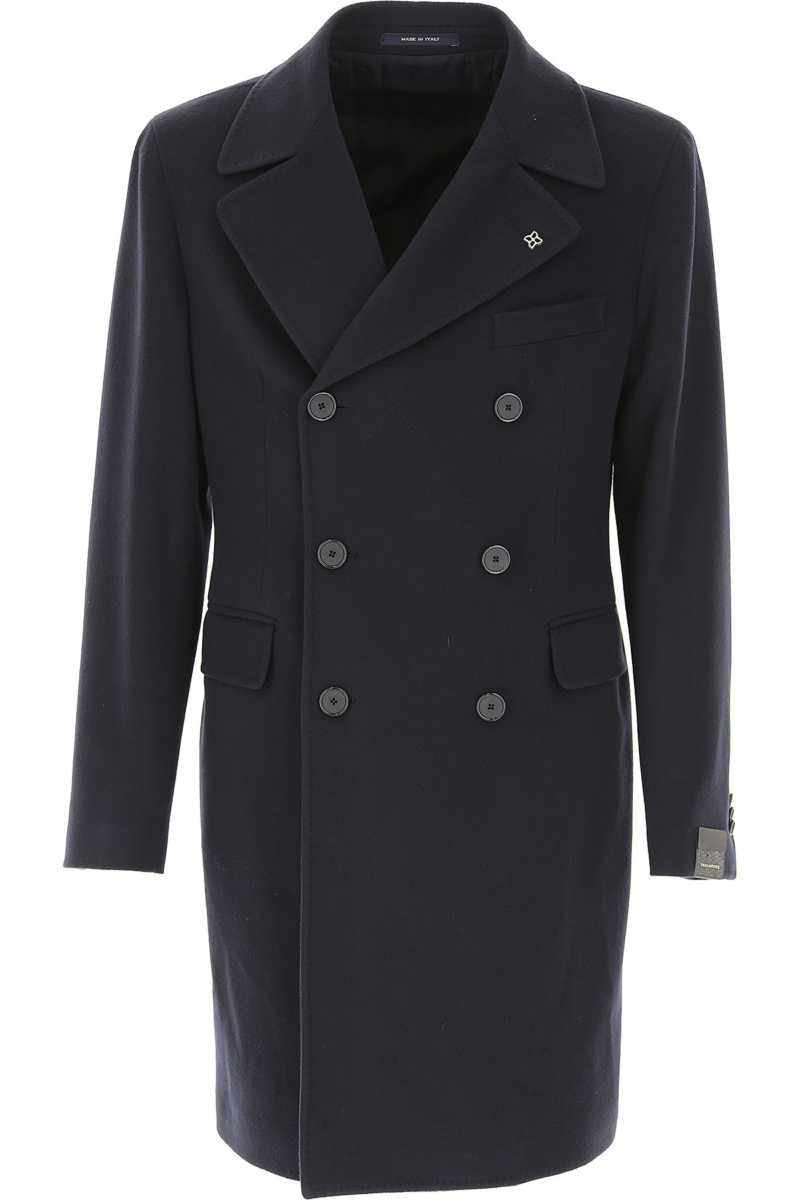 Tagliatore Men's Coat Midnight Blue Canada - GOOFASH - Mens COATS