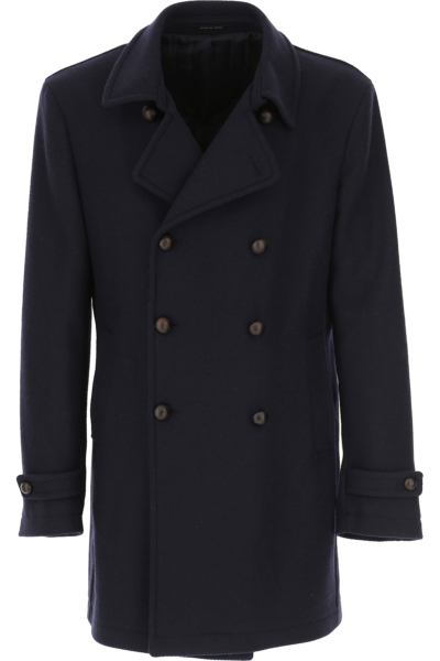 Tagliatore Men's Coat in Outlet Navy Blue Canada - GOOFASH - Mens COATS