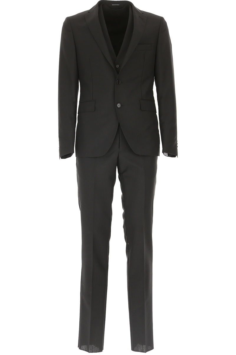 Tagliatore Men's Suit in Outlet Black Canada - GOOFASH - Mens SUITS