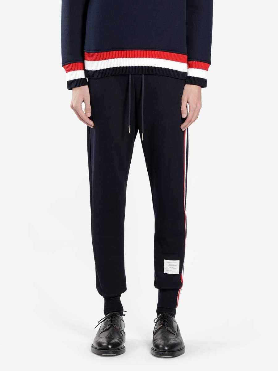 Thom Browne Trousers Blue Canada - GOOFASH - Mens TROUSERS