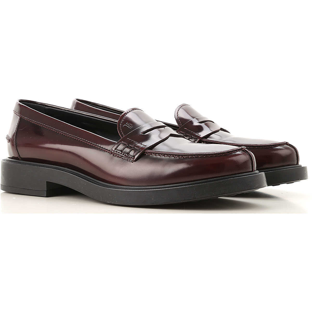 Tods Loafers for Women Bordeaux Canada - GOOFASH - Womens FLAT SHOES
