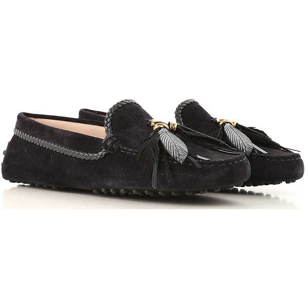 Tods Loafers for Women Dark Blue Navy Canada - GOOFASH - Womens FLAT SHOES