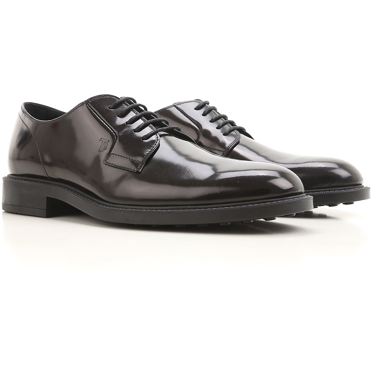 Tods Mens Shoes Polished Black Canada - GOOFASH -