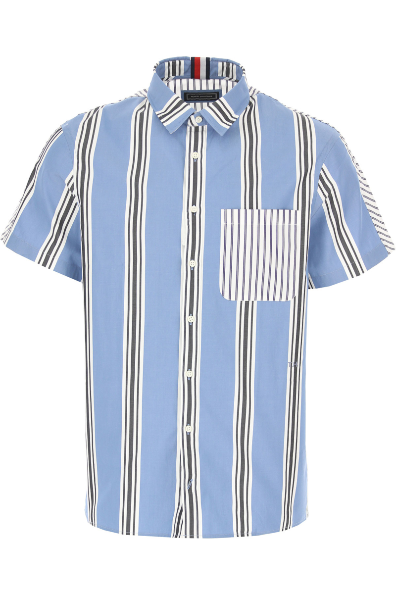 Tommy Hilfiger Shirt for Men in Outlet Manganese Blue Canada - GOOFASH - Mens SHIRTS