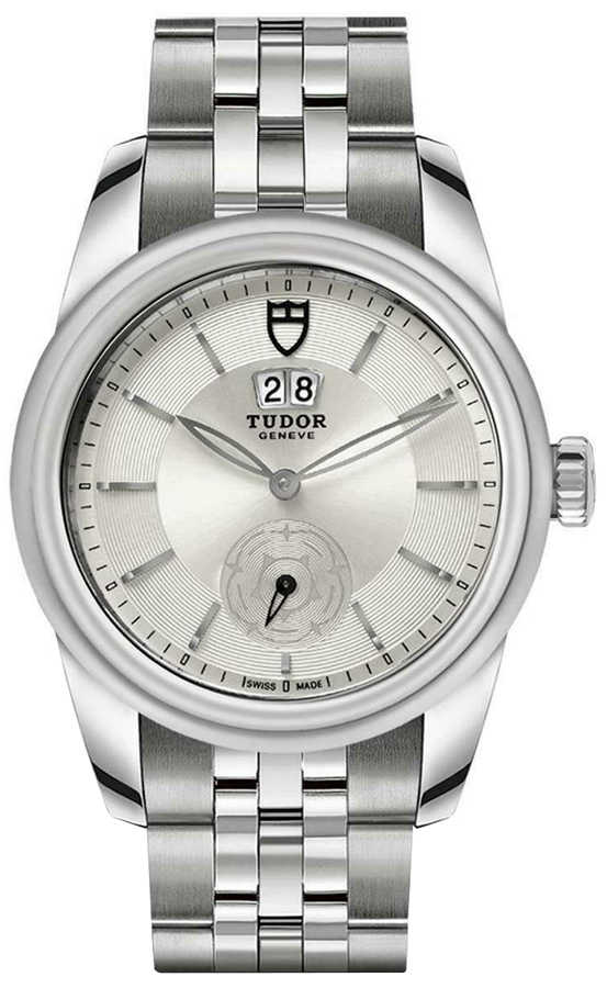 Tudor Glamour Double Date M57000-0004 Silver USA - GOOFASH - Mens JEWELRY