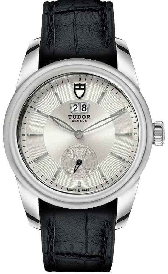 Tudor Glamour Double Date Silver Dial Men's Watch M57000-Silver Silver USA - GOOFASH - Mens WATCHES