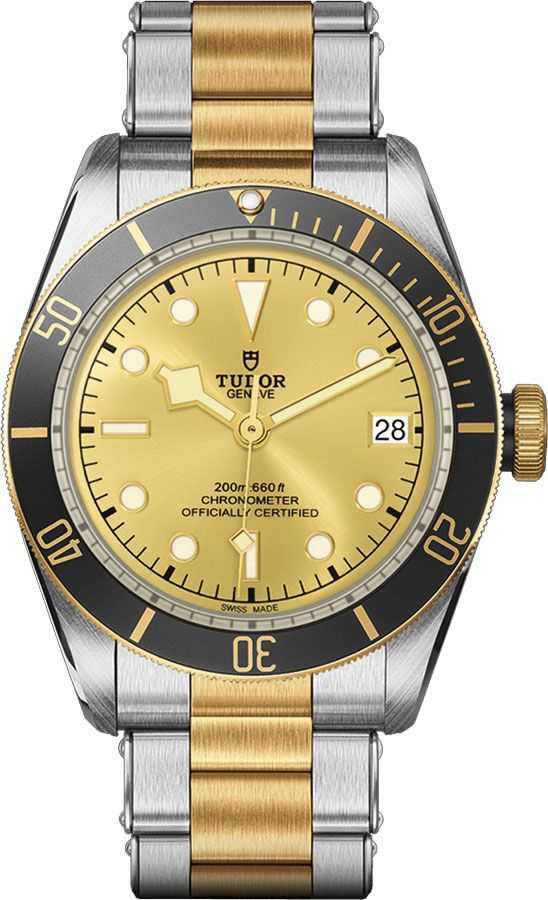 Tudor Heritage Black Bay S&G Champagne Dial Men's Watch M79733N-0004 Champagne USA - GOOFASH - Mens WATCHES