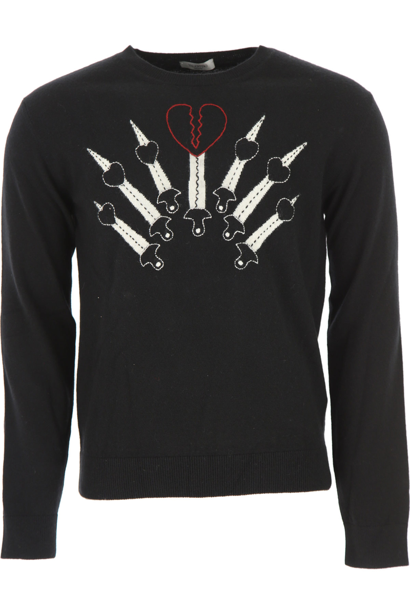 Valentino Sweater for Men Jumper in Outlet Black Canada - GOOFASH - Mens SWEATERS