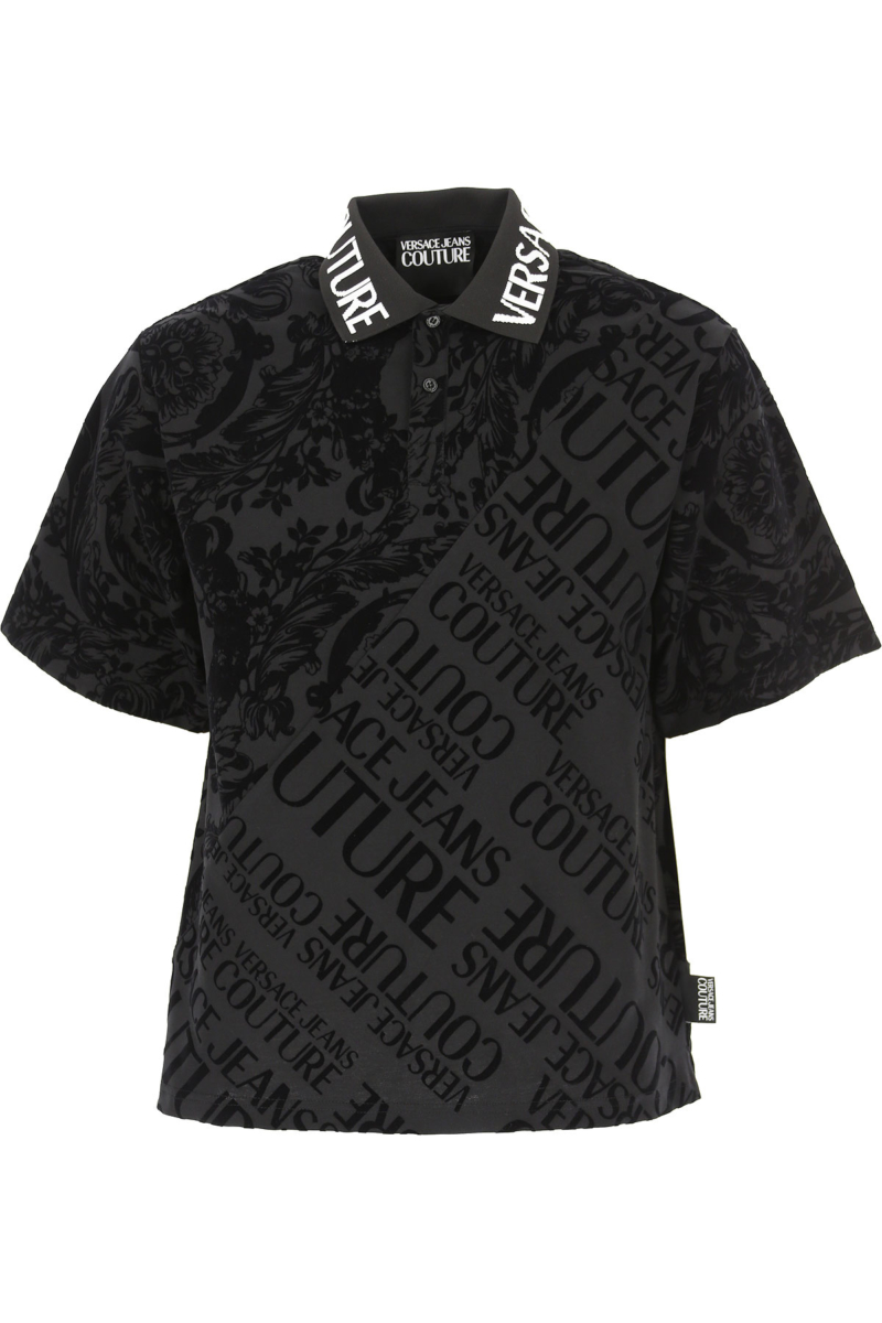 Versace Jeans Couture Polo Shirt for Men Black Canada - GOOFASH - Mens POLOSHIRTS