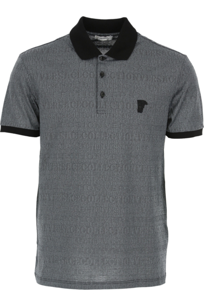 Versace Polo Shirt for Men Denim Canada - GOOFASH - Mens POLOSHIRTS