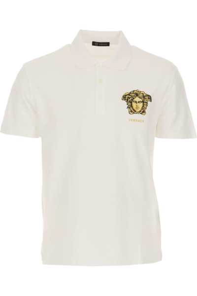 Versace Polo Shirt for Men White Canada - GOOFASH - Mens POLOSHIRTS