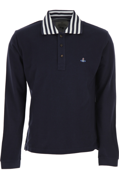Vivienne Westwood Polo Shirt for Men Navy Blue Canada - GOOFASH - Mens POLOSHIRTS