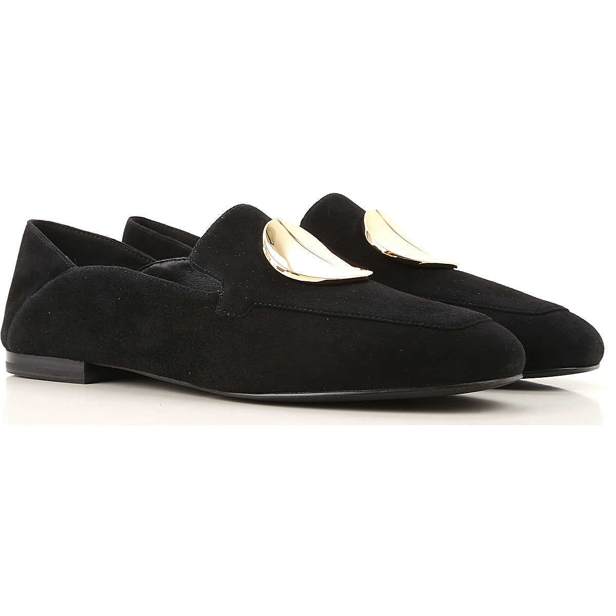 What For Loafers for Women Black Canada - GOOFASH - Womens FLAT SHOES