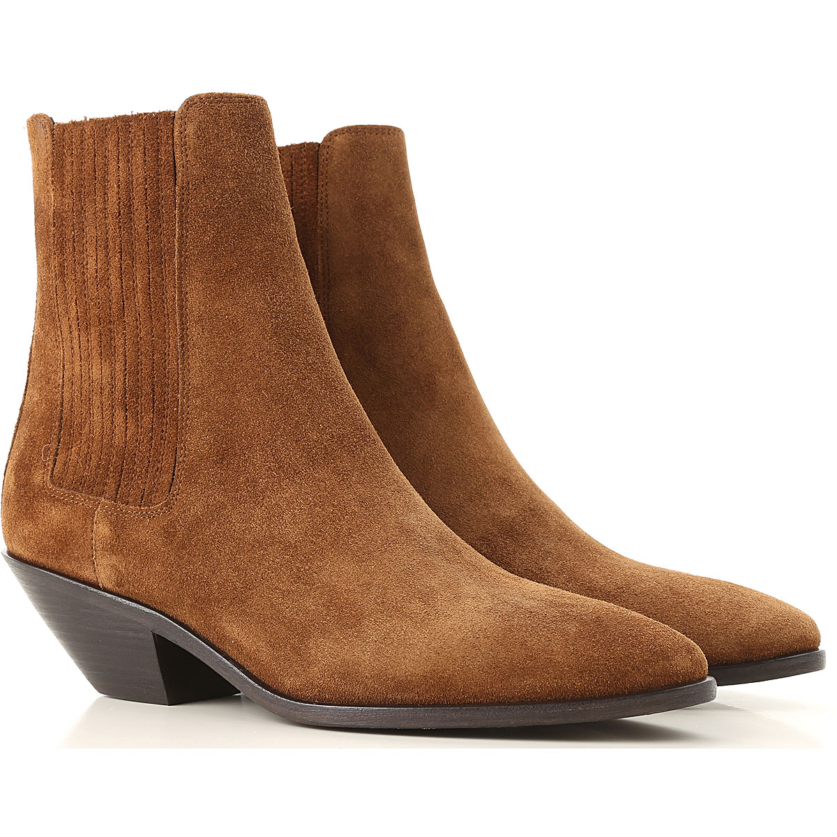 Yves Saint Laurent Chelsea Boots for Women Brown Canada - GOOFASH - Womens BOOTS