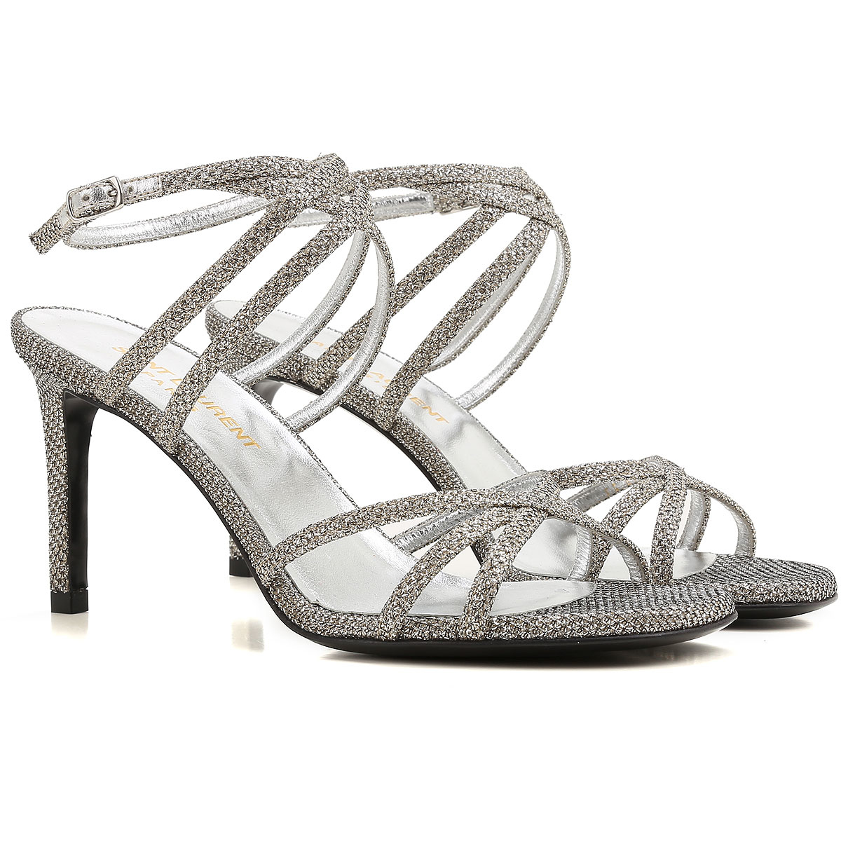 Yves Saint Laurent Sandals for Women in Outlet Silver Canada - GOOFASH - Womens SANDALS