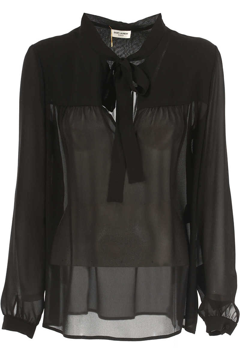 Yves Saint Laurent Shirt for Women in Outlet Black Canada - GOOFASH - Womens SHIRTS