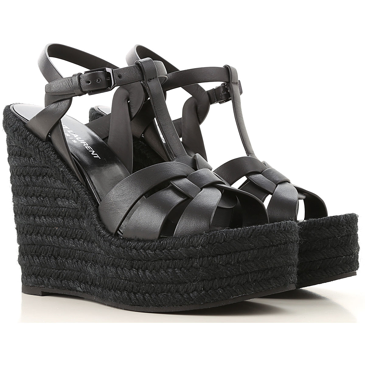 Yves Saint Laurent Wedges for Women Black Canada - GOOFASH - Womens HOUSE SHOES