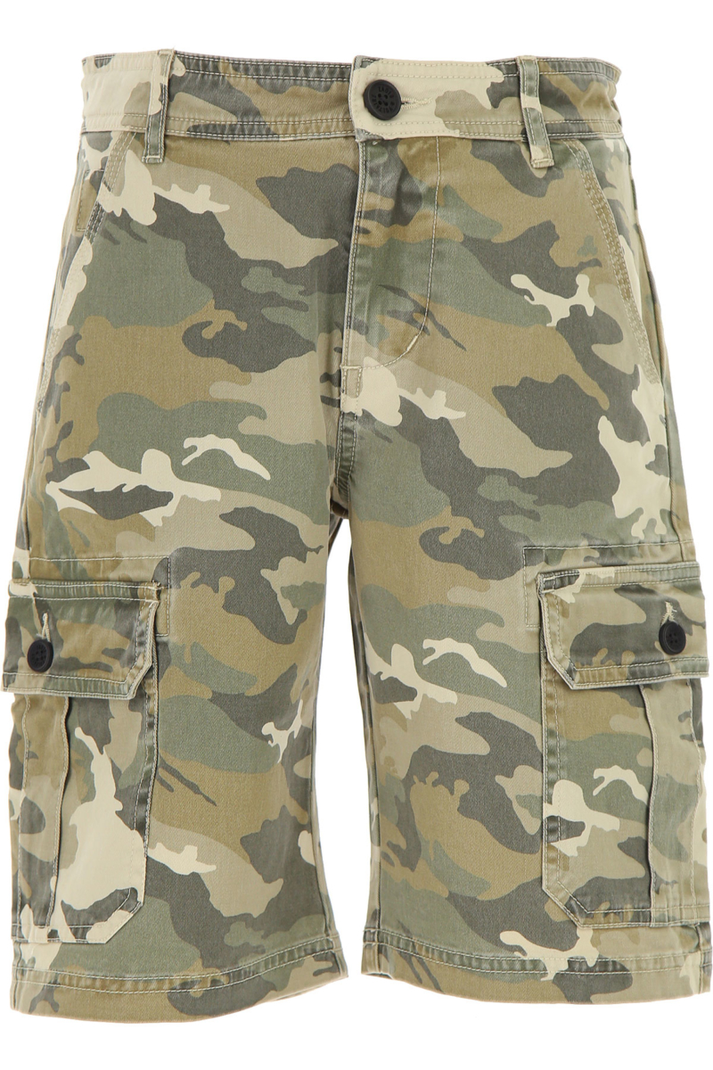 Zadig & Voltaire Kids Shorts for Boys Camouflage Brown Canada - GOOFASH - Mens SHORTS