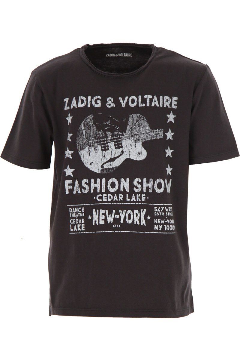 Zadig & Voltaire Kids T-Shirt for Boys Black Canada - GOOFASH - Mens T-SHIRTS