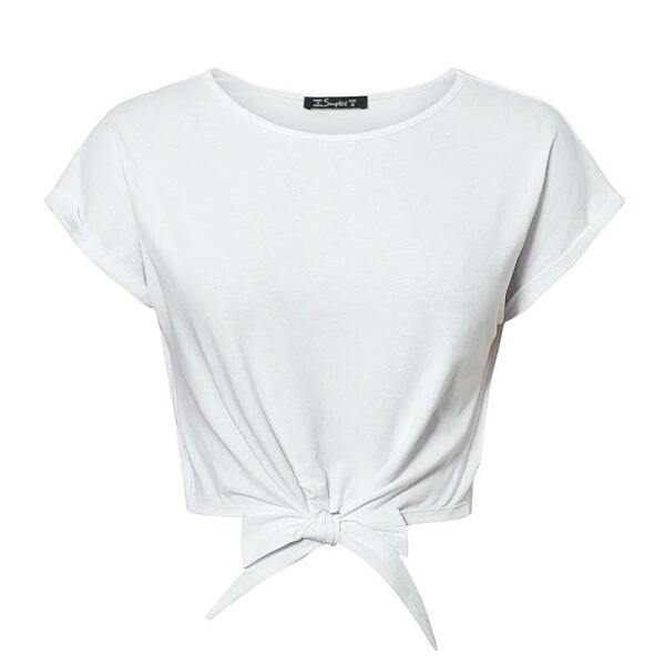 Women FASHION Elegant women cotton t-shirt top 2
